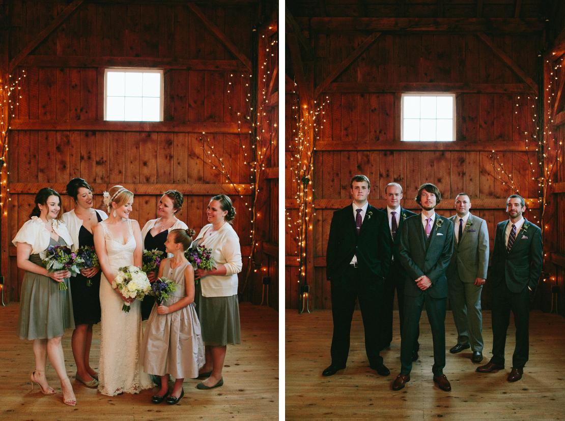 18_bridal_party_purple_grey_barn_at_lang_farm_indoors_vermont_wedding