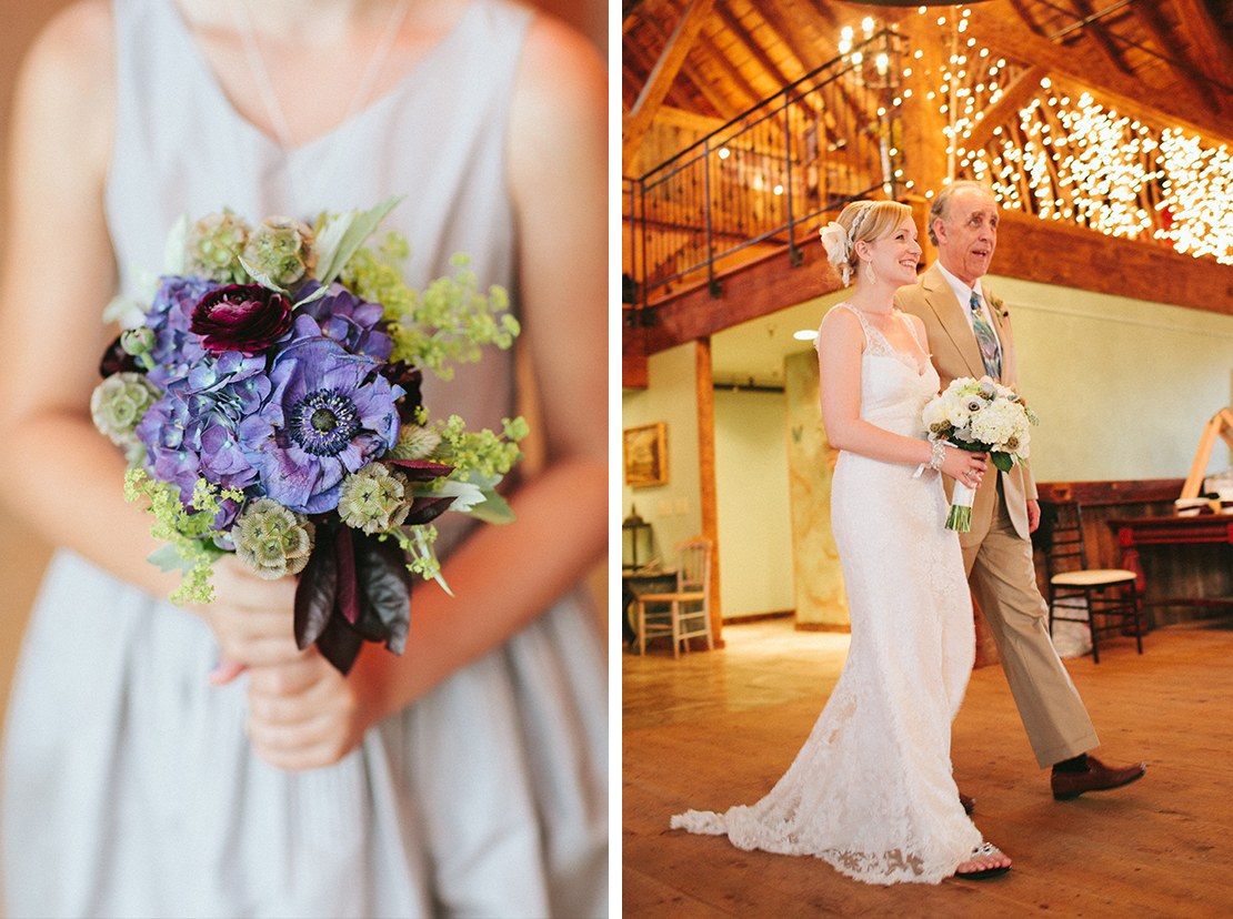 24_father_walking_daughter_bride_down_aisle_barn_lang_farm_indoor_ceremony