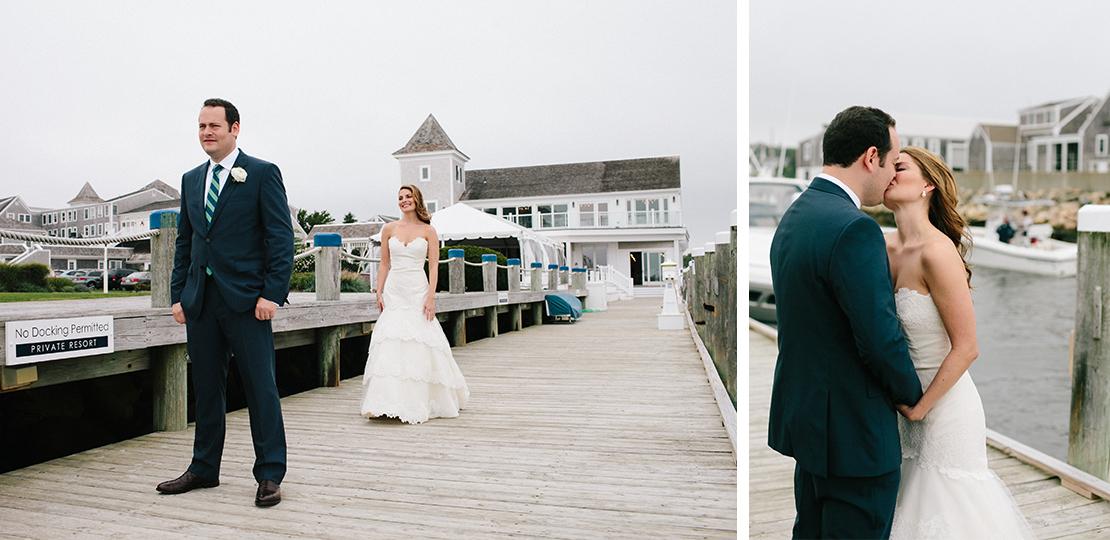 07_groom_waits_for_first_look_wychemere_beach_club_cape_cod_wedding_kiss