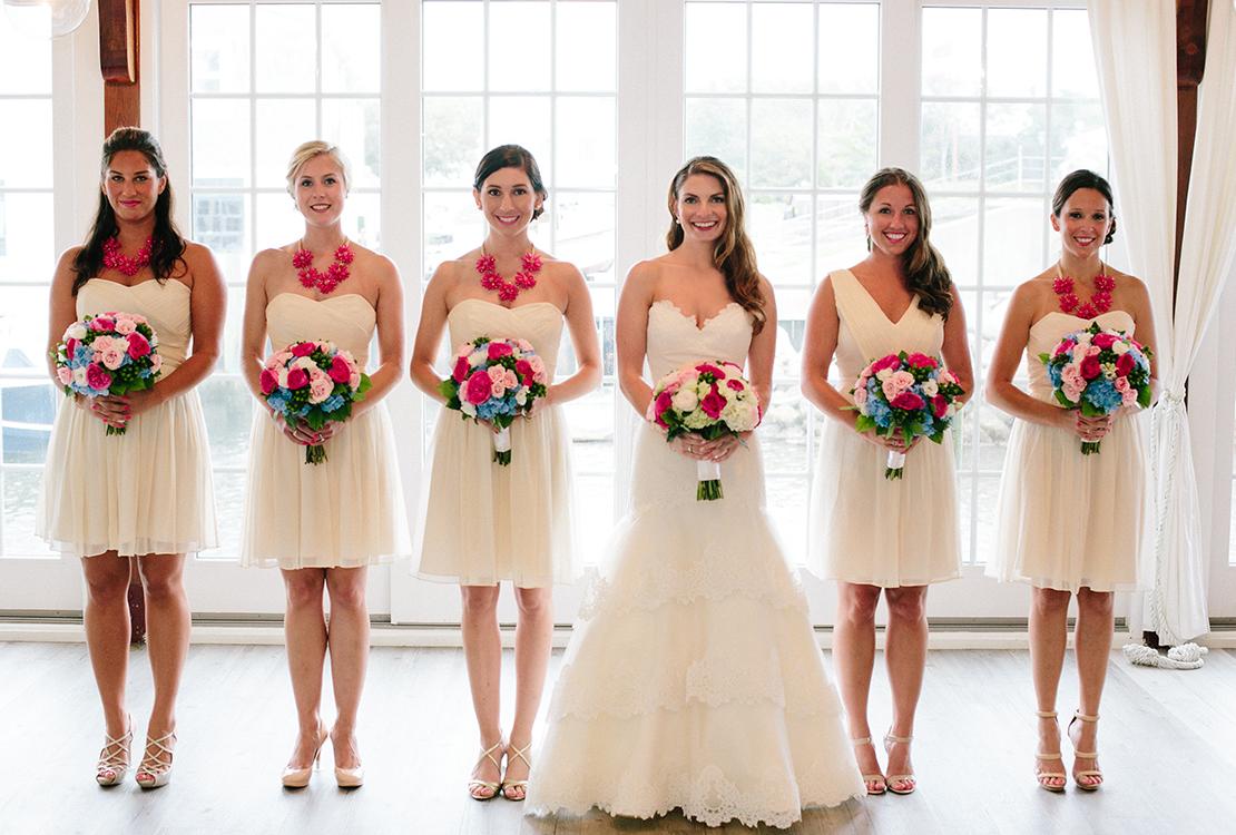 16_Bridal_party_portrait_cream_dresses_pink_blue_bouquet_cape_cod_wedding_photography