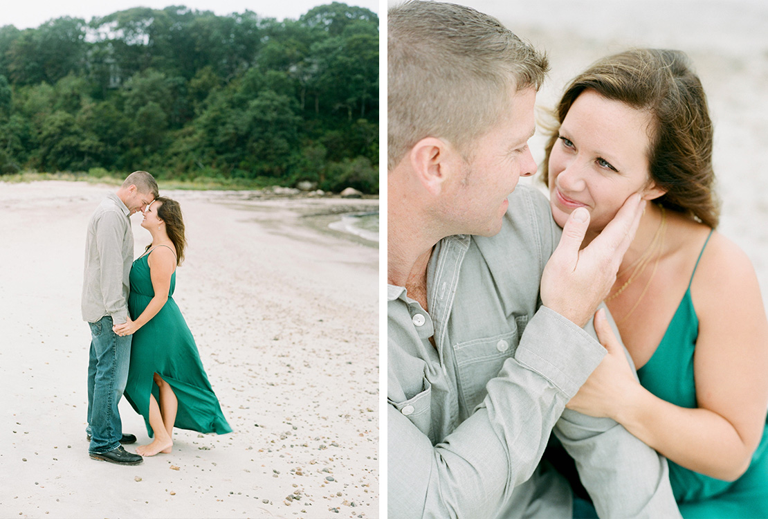 03_film_photographer_heidi_vail_cape_cod_emerald_green_engagement_session_old_silver_beach