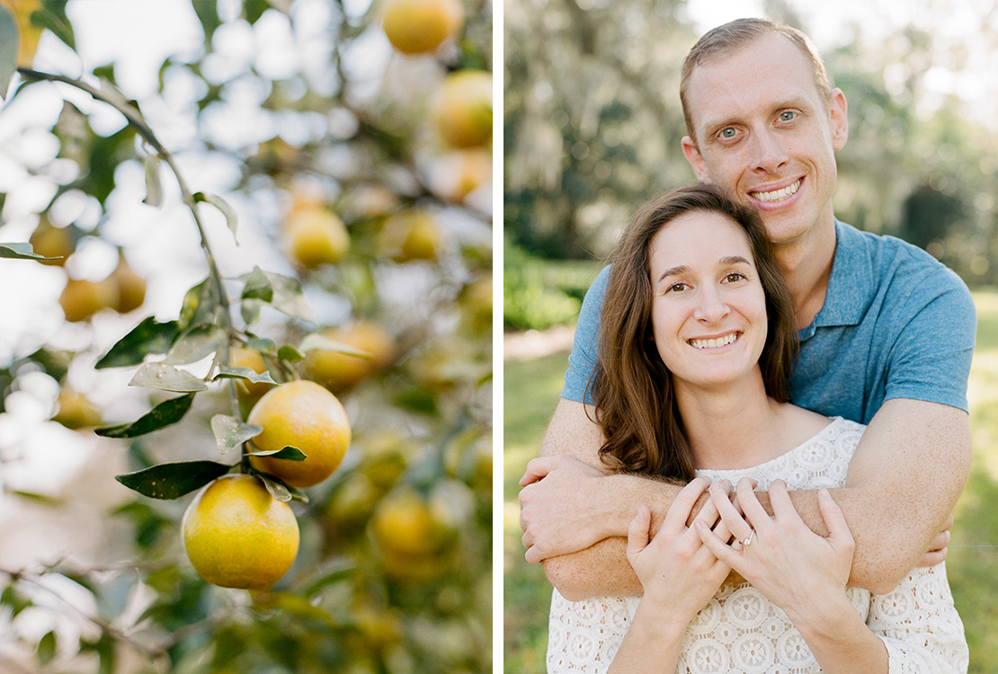 02_Engagement_Session_Orlando_Florida_Leu_Gardens_Portrait_Lemons_film_photographer_heidi_Vail