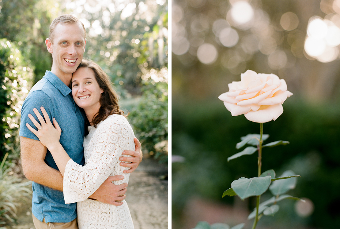 10_apricot_rose_engagement_session_at_Leu_Gardens_Orlando_Florida_film_photographer_heidi_vail_fine_art_weddings
