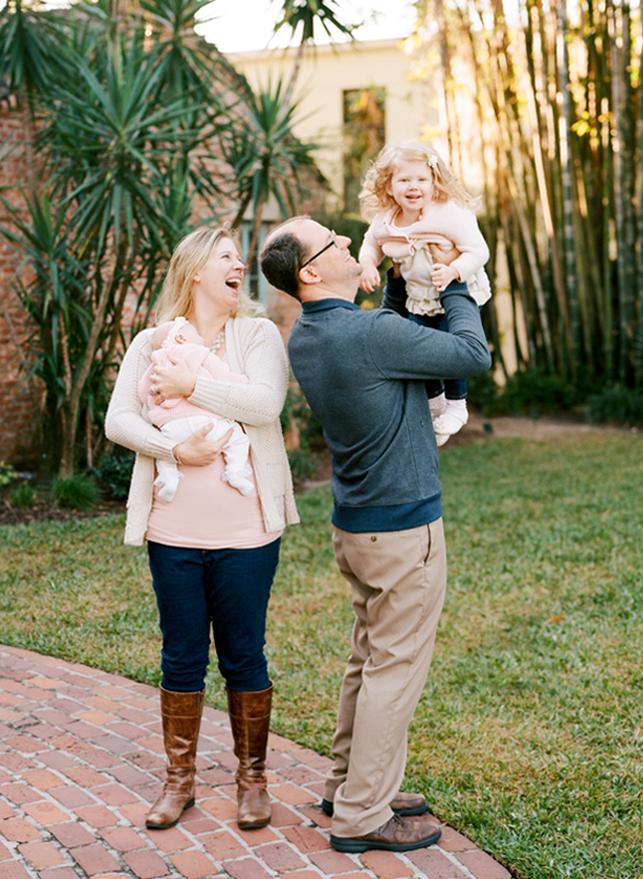 Family Portrait Session at Casa Feliz in Winter Park, Florida