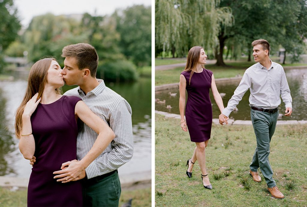Boston Public Garden Engagement Session | Heidi Vail Photography