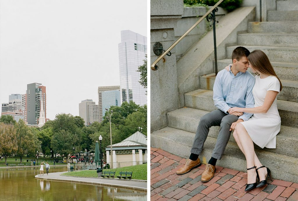 Beacon Hill Engagement Session | Boston Common | Heidi Vail Photography